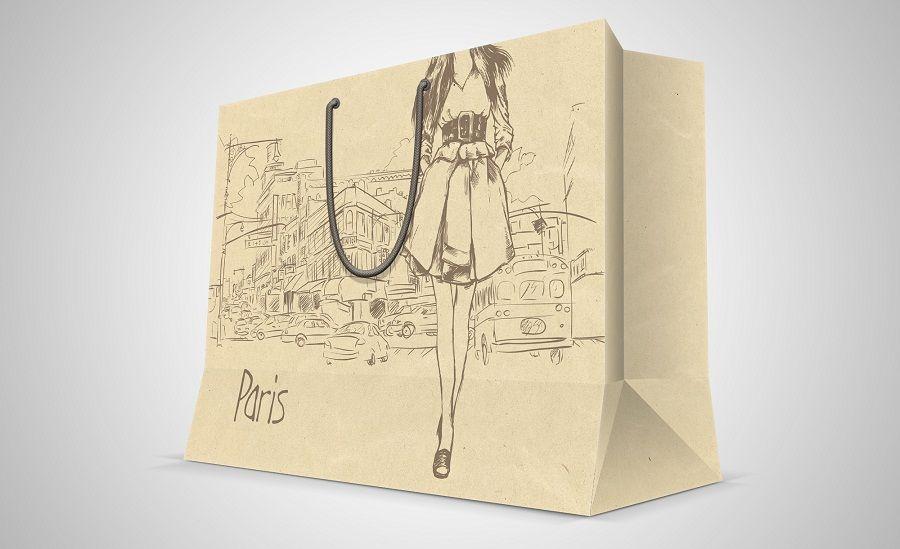 Túi giấy quà tặng có sẵn loại có dây xách