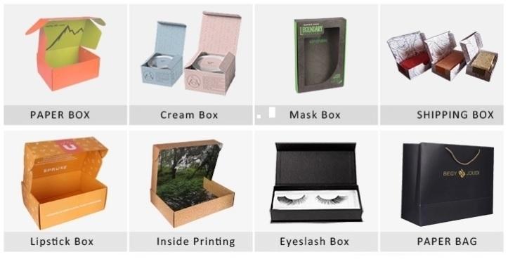 phân loại mẫu in hộp giấy