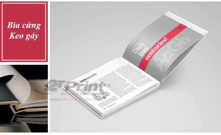 Catalogue bìa cứng, keo gáy