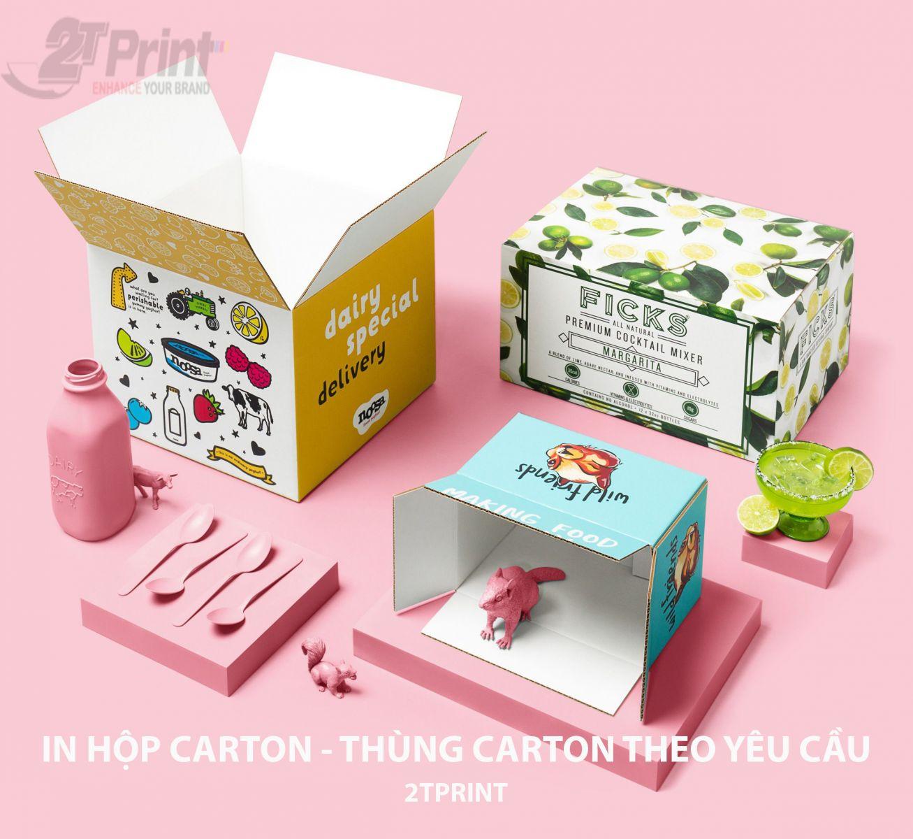 In hộp carton theo yêu cầu