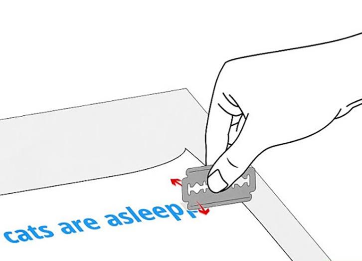 cách làm bay mực in bằng dao lam