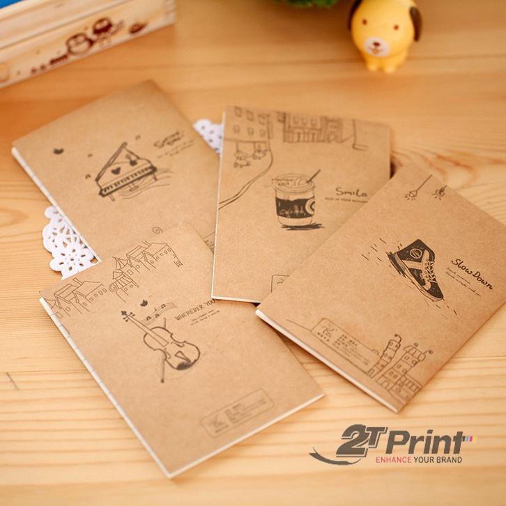 cách làm sổ tay vintage bìa cứng
