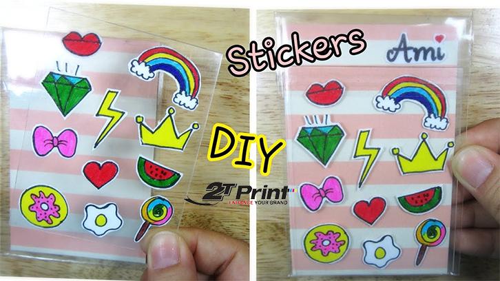 cách làm sticker với băng dính trong