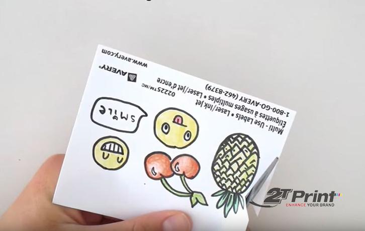 cách làm sticker với băng dính hai mặt