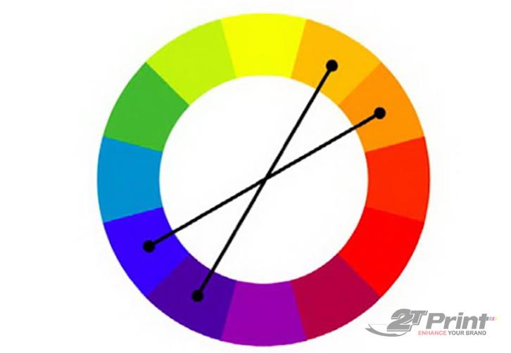Cách phối màu thiết kế bổ túc xen kẽ