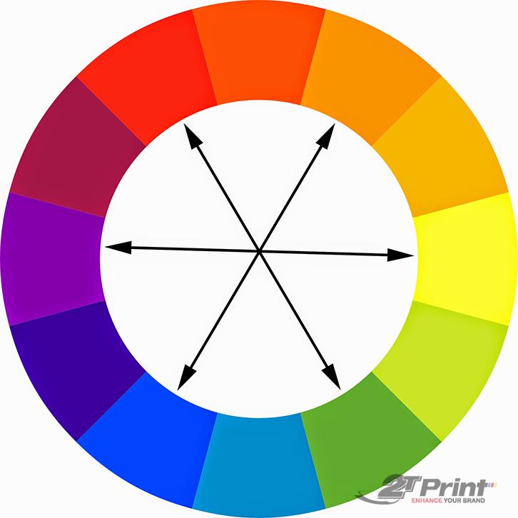 cách phối màu thiết kế bổ túc trực tiếp