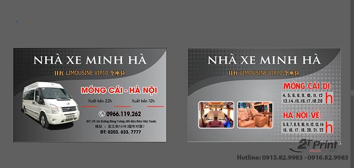 card visit cho thuê xe du lịch xám đen