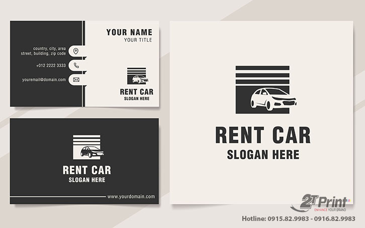 card visit cho thuê xe đơn giản