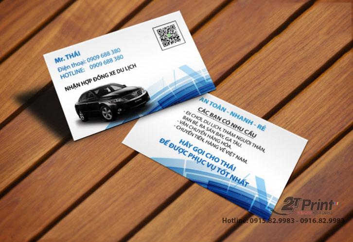 card visit cho thuê xe đẹp mắt