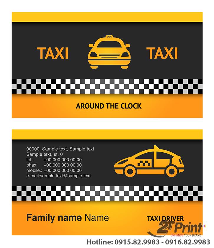 card visit taxi thông dụng