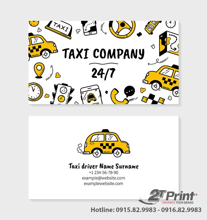 card taxi màu sắc ấn tượng