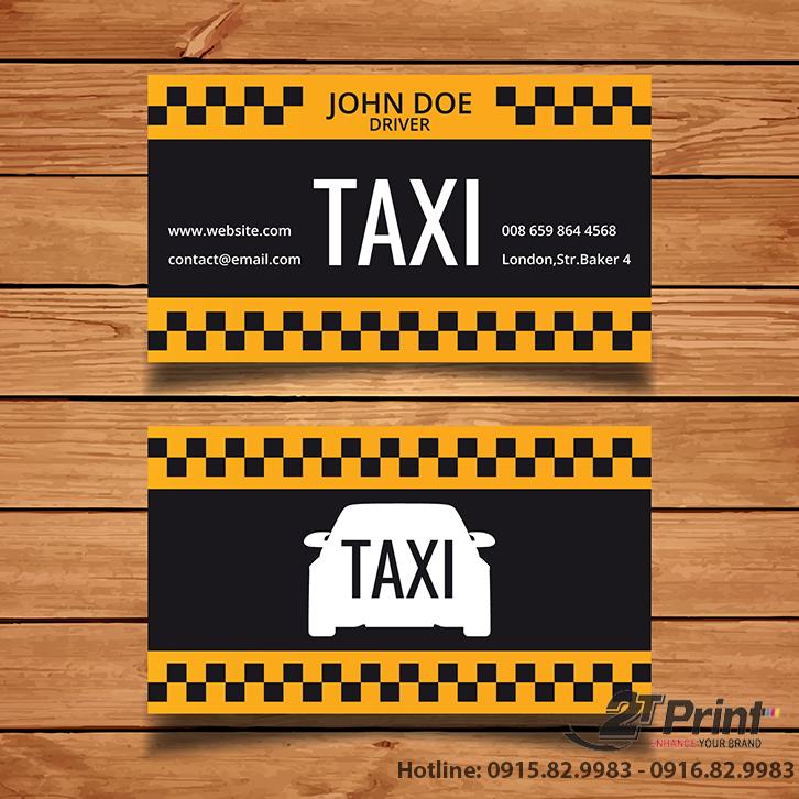 card taxi kết hợp màu sắc hài hòa