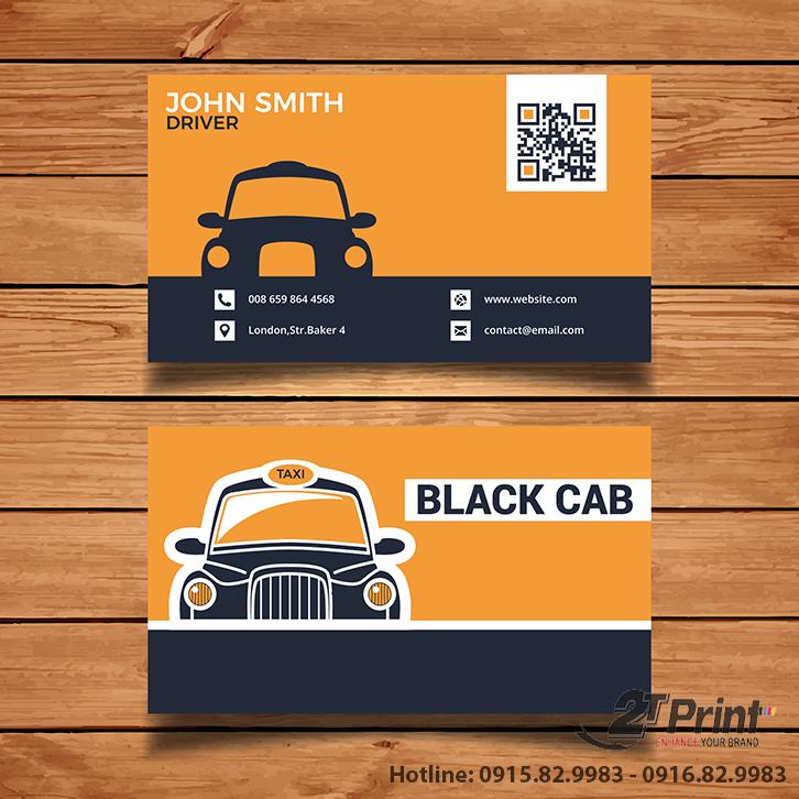 mẫu card taxi mã QR