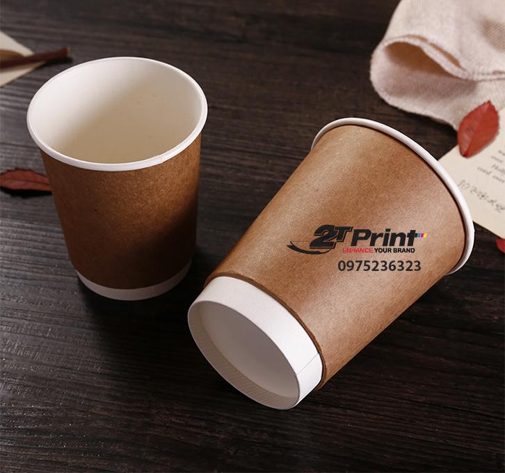cốc giấy 2 lớp kraft