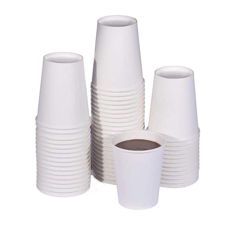 Cốc giấy trắng đựng cafe