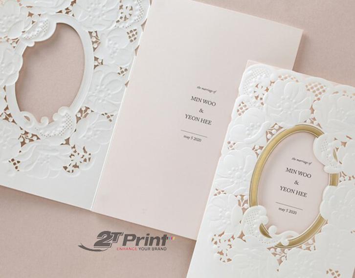 giấy bristol làm thiệp cưới