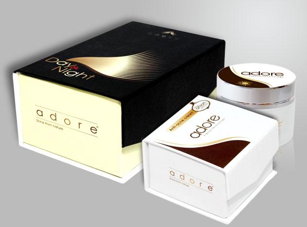 Mẫu hộp cứng đựng mỹ phẩm có thiết kế độc đáo
