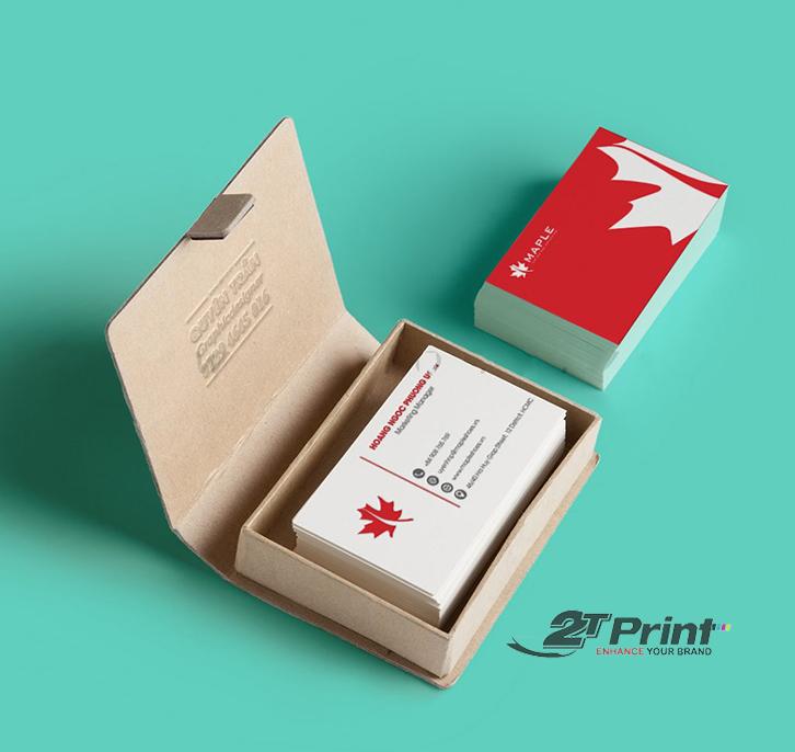 mẫu hộp card visit để bàn
