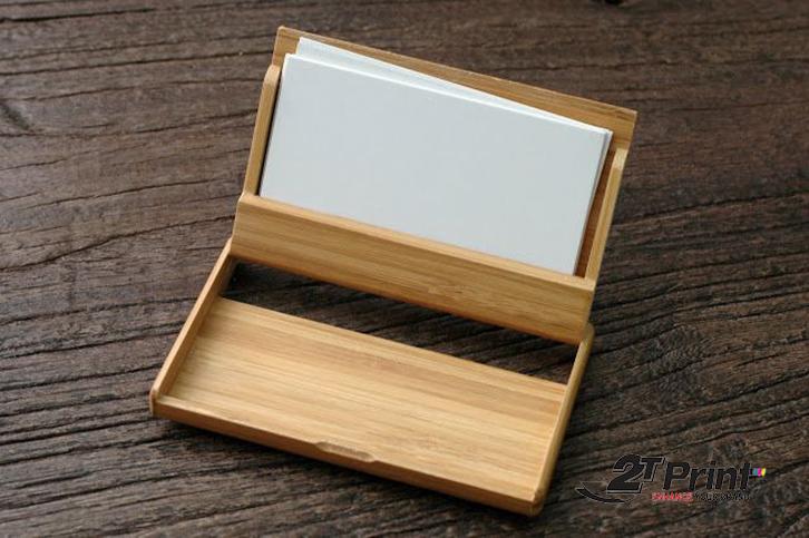 hộp card visit chất liệu gỗ