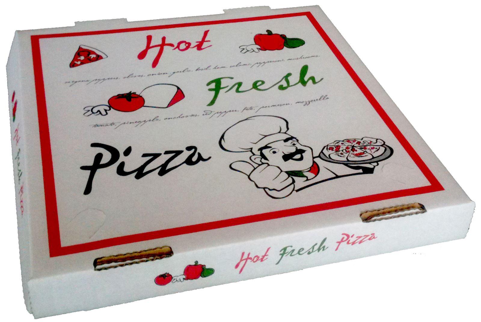 Hộp đựng bánh Pizza chuyên nghiệp gây ấn tượng với khách hàng.