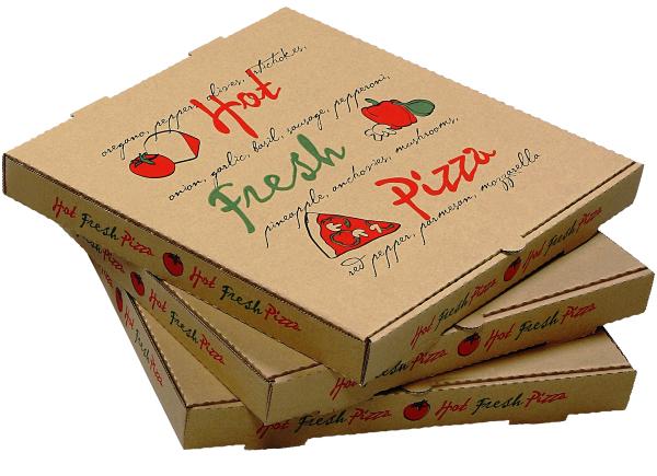 Hộp đựng bánh Pizza thiết kế hình ảnh thương hiệu.