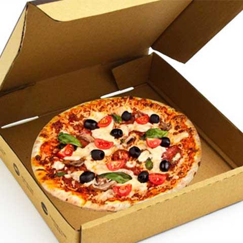 Dạng mẫu thiết kế hộp đựng bánh Pizza.
