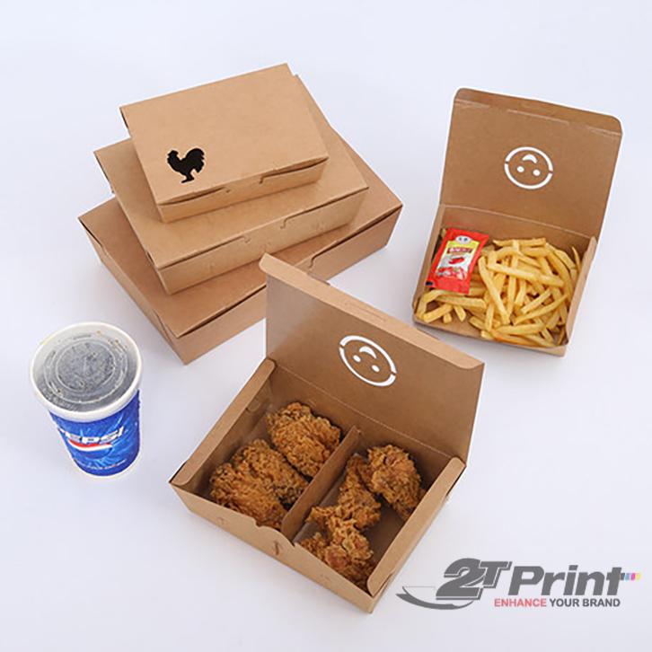 mẫu hộp giấy đựng gà kraft