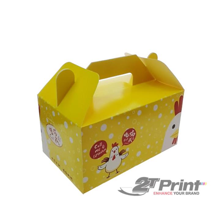 quy cách hộp giấy đựng gà