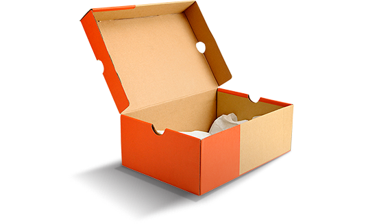 Hộp giấy đựng giày thân thiện với môi trường.