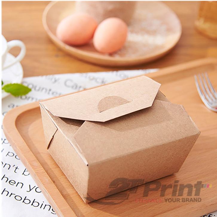 hộp giấy đựng thức ăn có quai xách