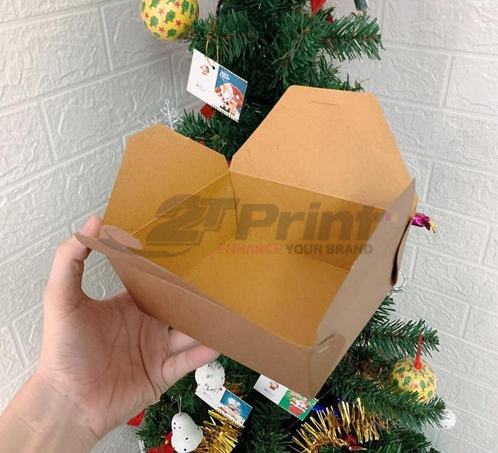 hộp giấy đựng thức ăn kraft