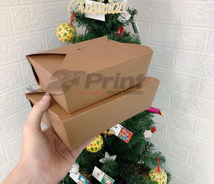 hộp giấy đựng thức ăn đơn giản