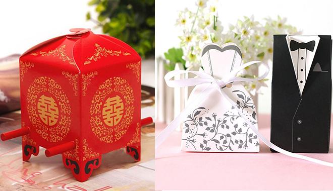 Hộp quà cưới ngộ nghĩnh mang lại niềm vui cho gia chủ và khách