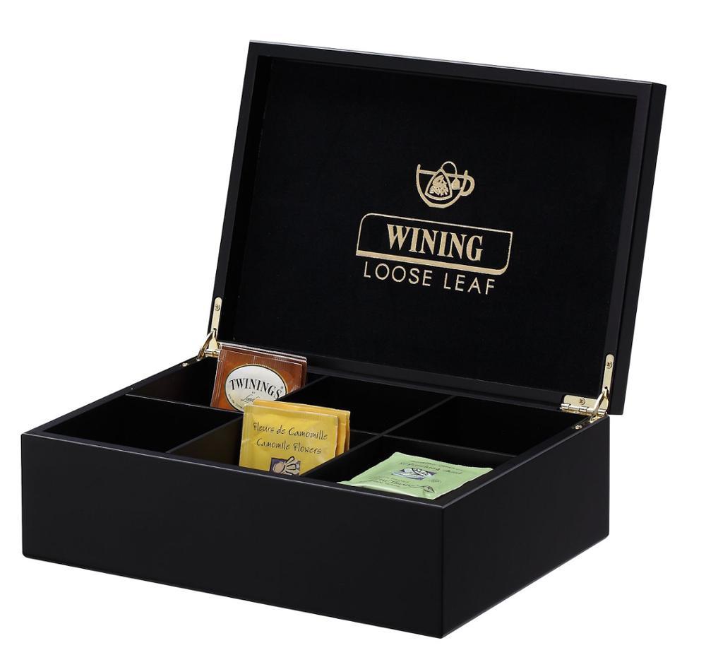 Hộp trà cao cấp màu tối sang trọng