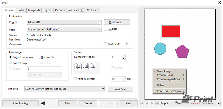 hướng dẫn thiết kế, in card visit bằng corel