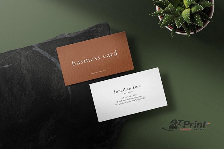 mẫu thiết kế card visit bằng corel