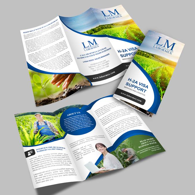 Thiết kế bìa brochure sao cho hấp dẫn để khách hàng muốn cầm nó ngay khi nhìn thấy.