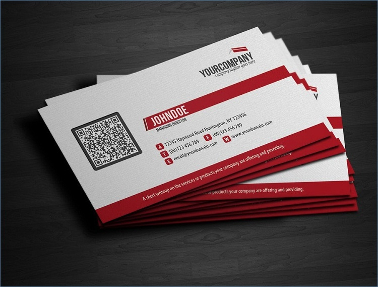 In card visit có mã QR sáng tạo