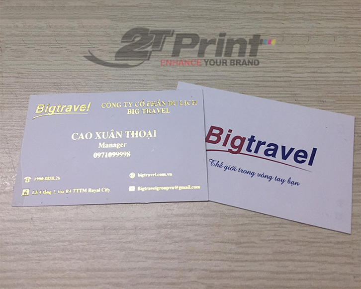 in card visit giấy mỹ thuật cho công ty du lịch