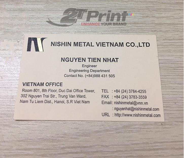 in card visit giấy mỹ thuật cho kỹ sư