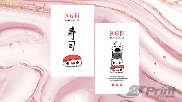 mẫu in card visit nhà hàng Nhật