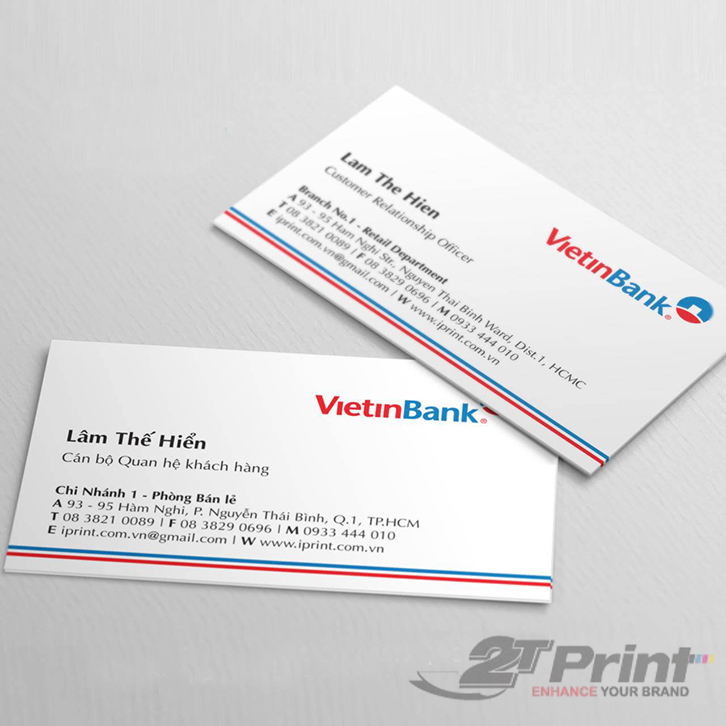 chất liệu giấy in card visit