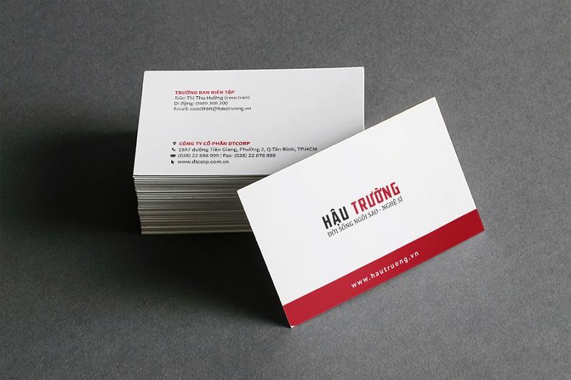 Card visit cung cấp các thông tin quan trọng của người sử dụng như số điện thoại, địa chỉ doanh nghiệp,…