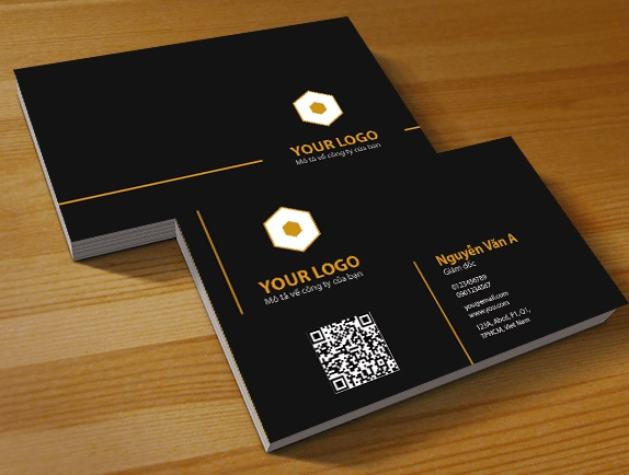 Card visit thường sử dụng gam màu trắng, đen làm chủ đạo