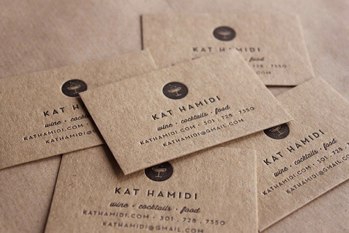 Mẫu in card visit giấy Kraft đẹp