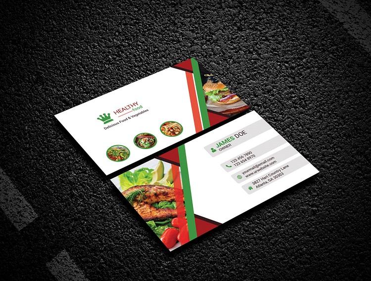 Mẫu card visit cho quán ăn giá rẻ