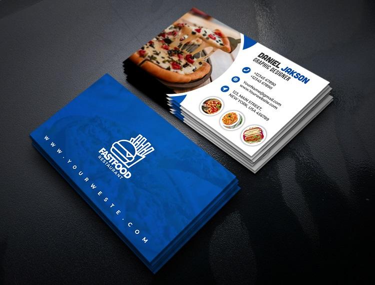 Mẫu card visit quán ăn pizza