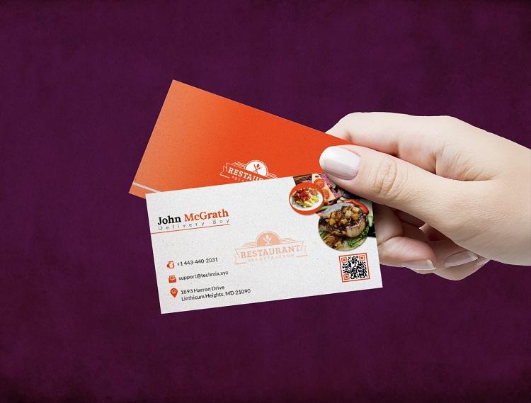 Mẫu card visit quán ăn tinh tế đến từng chi tiết nhỏ