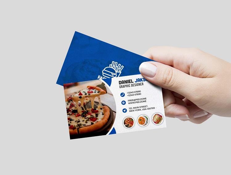 Mẫu card visit cho quán ăn