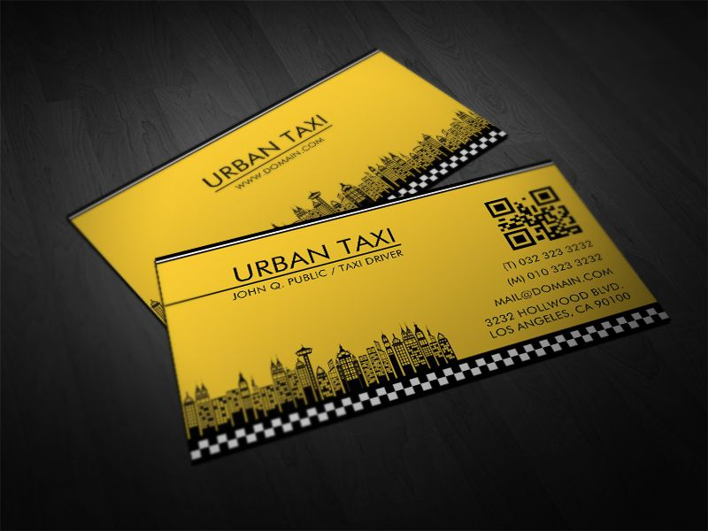 Mẫu in card visit taxi